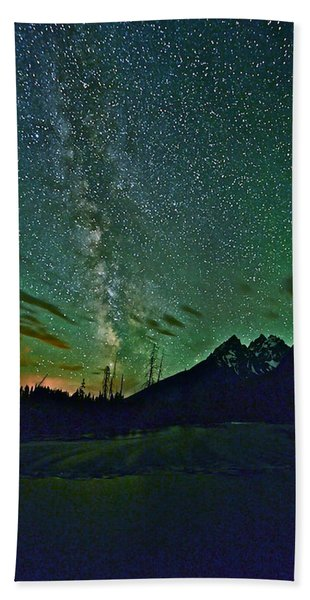 Starry Night Over The Tetons Bath Towel
