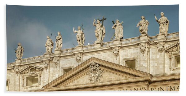 Statues Of St Peter's Basilica Hand Towel