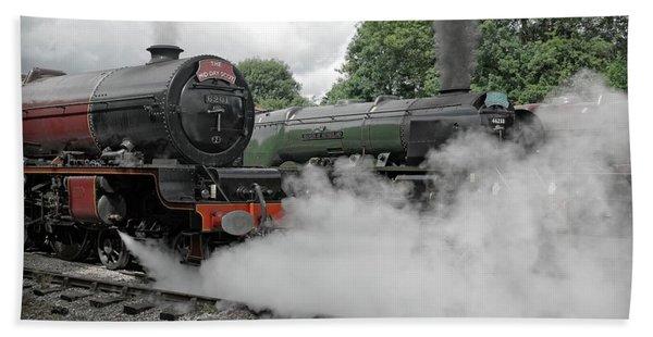 Steam Locomotive Drama Bath Towel