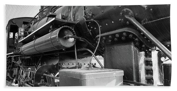 Steam Locomotive Side View Hand Towel