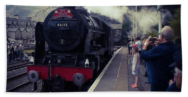 Steam Train, Ffestiniog, North Wales Hand Towel