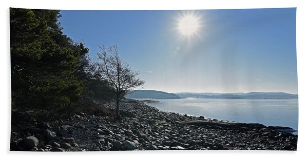 Stone Beach Hand Towel