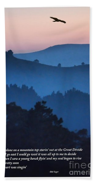 Stood Alone On The Mountain Top Hand Towel