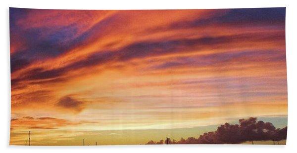 Store Bay, Tobago At Sunset #view Bath Towel