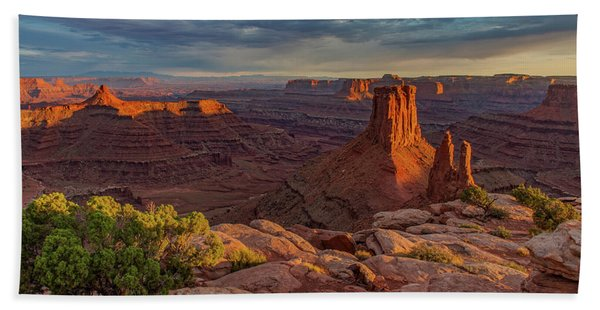 Stormy Sunset - Marlboro Point Hand Towel