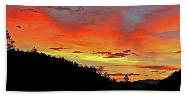Stormy Sunset Hand Towel