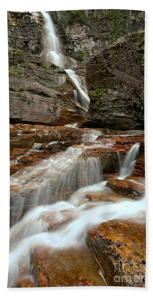 Streams Below Virginia Falls Hand Towel