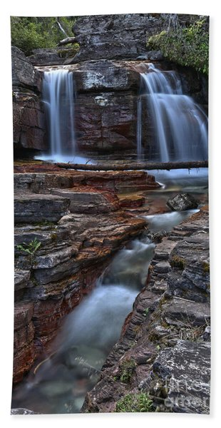 Streams Over Red Rocks Hand Towel