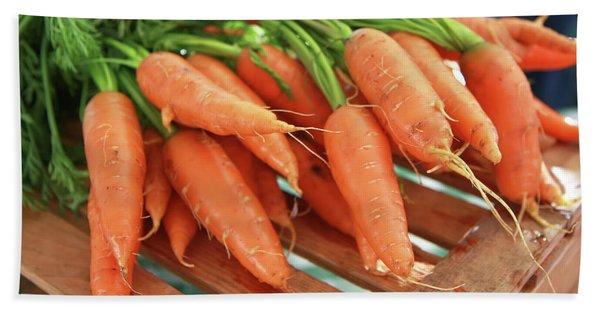 Summer Carrots Bath Towel