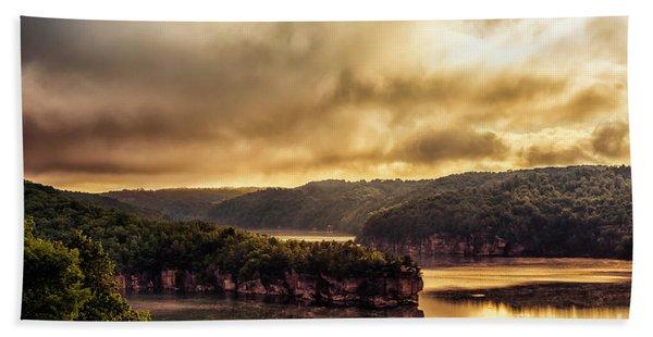 Summersville Lake At Daybreak Hand Towel