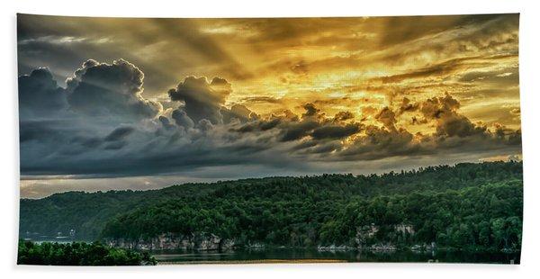 Summersville Lake Sunrise Bath Towel