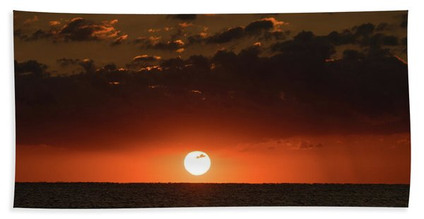 Sun Ball Sunrise Delray Beach Florida Bath Towel