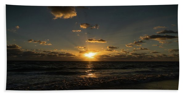 Sun Beam Sunrise Delray Beach Florida Bath Towel
