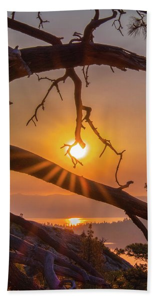 Sun Ornament - Cropped Hand Towel