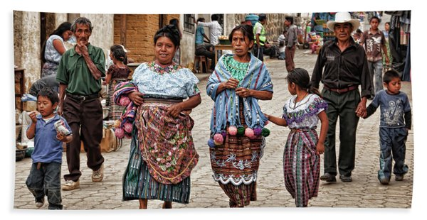 Sunday Morning In Guatemala Bath Towel