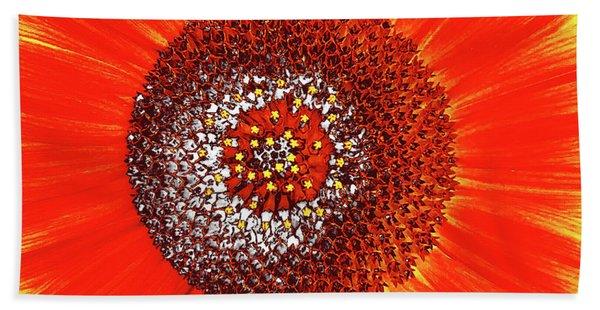 Sunflower Close Bath Towel