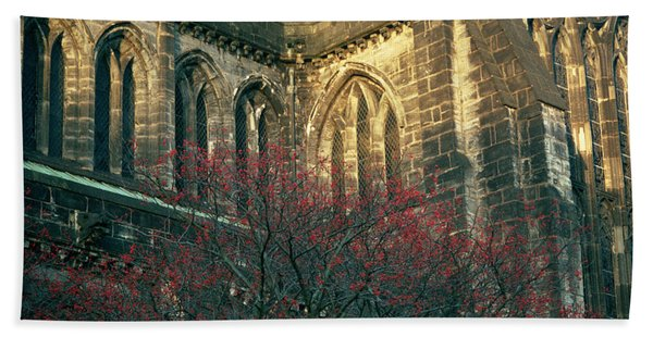 Sunlit Glasgow Cathedral Bath Towel