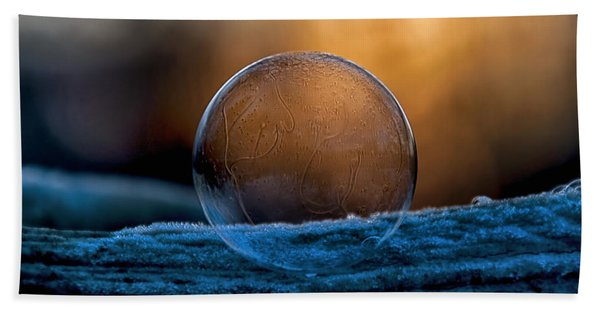 Sunrise Capture In Bubble Hand Towel