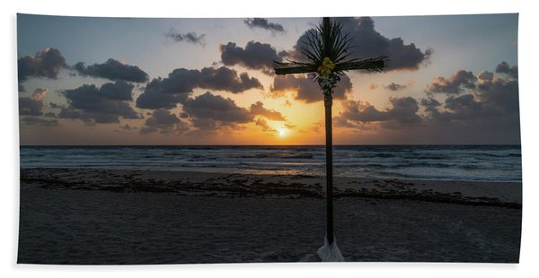 Sunrise Easter Cross Delray Beach Florida Hand Towel