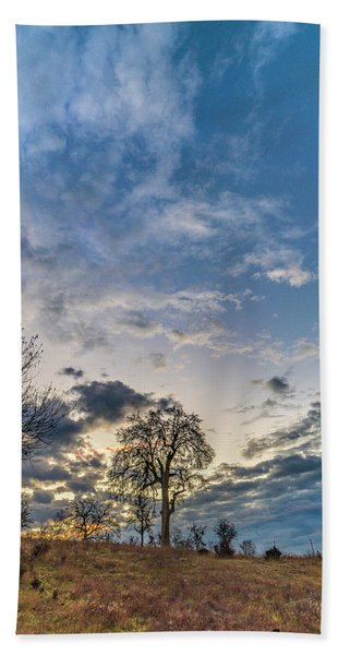 Sunrise On The Back Hill Hand Towel