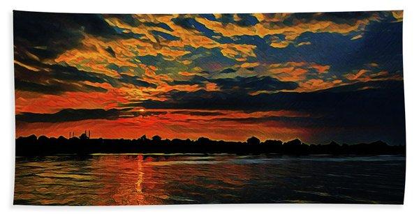 Sunrise On The Blue Danube Hand Towel