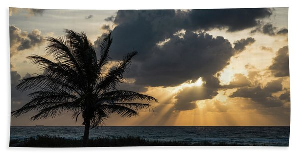 Sunrise Palm Rays Delray Beach Florida Bath Towel