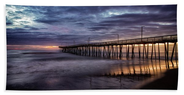 Sunrise Pier Hand Towel