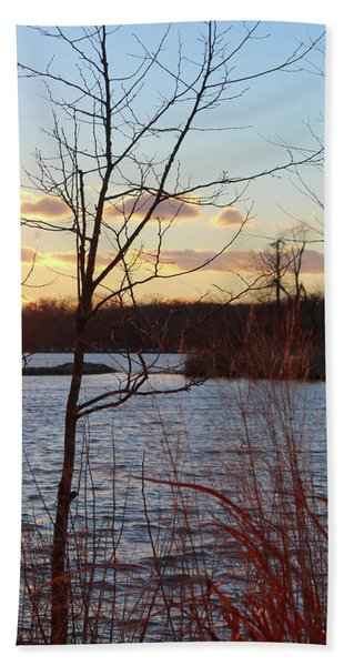 Sunset On The River Hand Towel