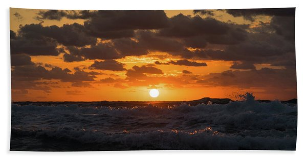 Sunrise Splash Surf Delray Beach Florida Hand Towel