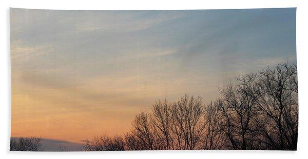 Fall Sunset Hand Towel