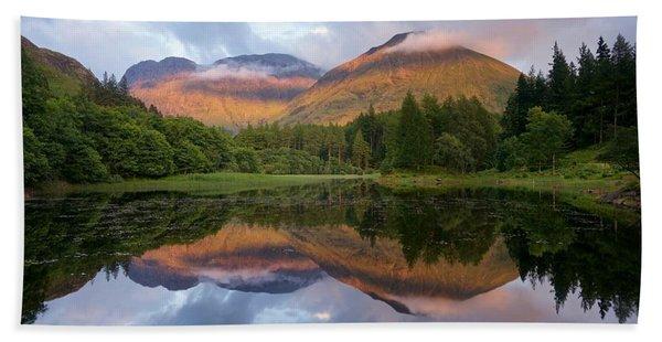 Sunset At Torren Lochan Hand Towel