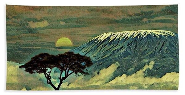 Sunset In Serengeti Hand Towel