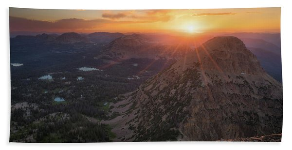 Hand Towel featuring the photograph Sunset In The Uinta Mountains by James Udall