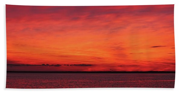 Sunset On Jersey Shore Bath Towel