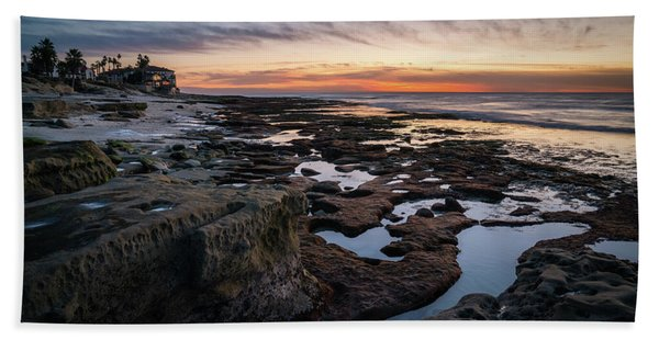 Hand Towel featuring the photograph Sunset On La Jolla Coast by James Udall