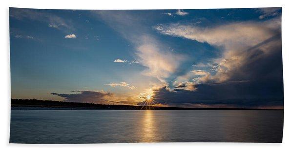 Sunset On The Baltic Sea Hand Towel