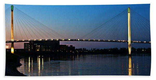 Sunset On The Bob Kerry Pedestrian Bridge Bath Towel