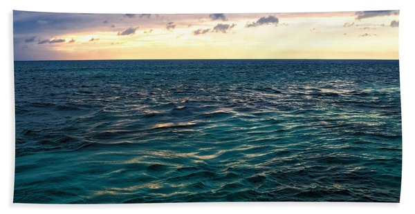 Sunset On The Caribbean Bath Towel