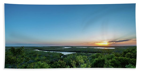 Sunset On The Outer Banks Hand Towel