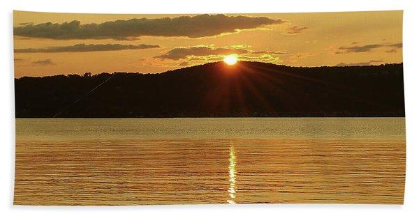 Sunset Over Piermont Bath Towel