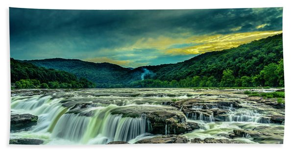Sunset Over Sandstone Falls Bath Towel