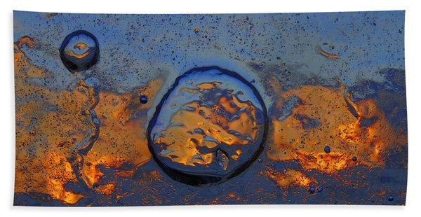 Sunset Rings Bath Towel