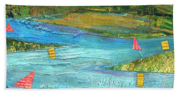 Sunset Sails 2 Bath Towel