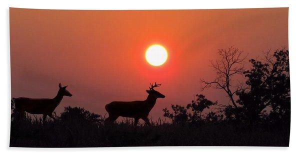 Sunset Silhouette Bath Towel