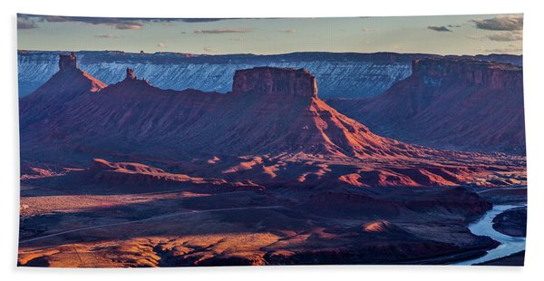 Sunset View From Omg Point Bath Towel