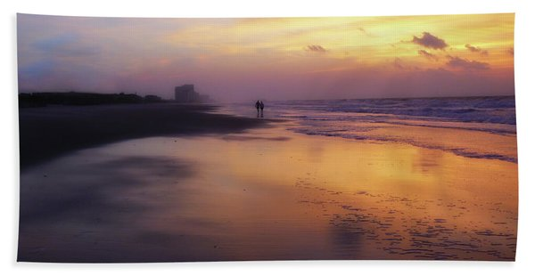 Sunset Walk On Myrtle Beach Bath Towel