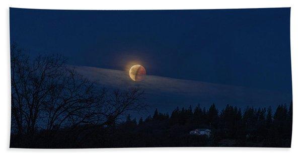 Super Blood Moon Bath Towel