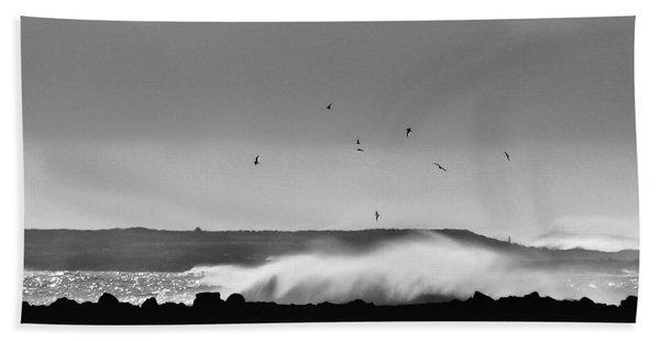Surf Birds Hand Towel