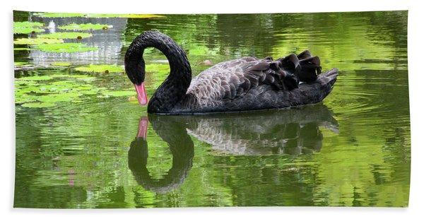 Swan Of Hearts Bath Towel