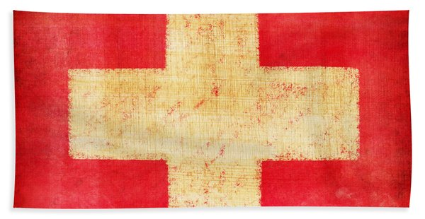 Switzerland Flag Bath Towel